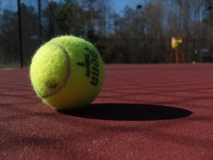 Tennis ball and tennis terms