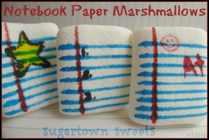 Notebook paper marshmallows