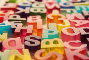 3D sweet letters made from gelatine