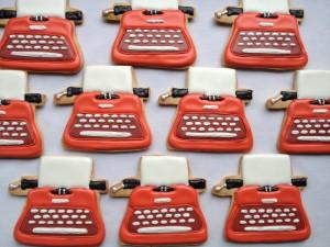 Typewriter cookies