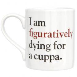 Gifts for writers: Literally grammar grumble mug