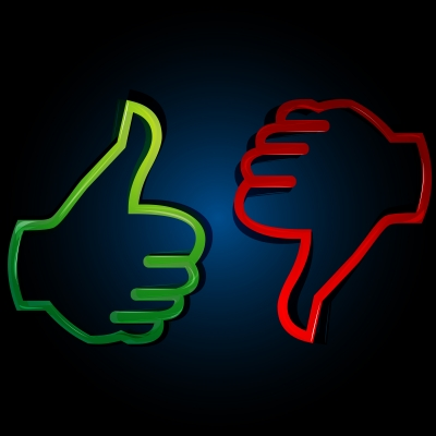 Thumbs up or down: Turning down work