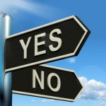 Yes / No sign