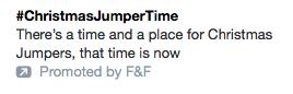 Comma splice example in tweet