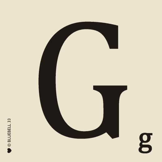 Scrabble alphabet letterG coaster