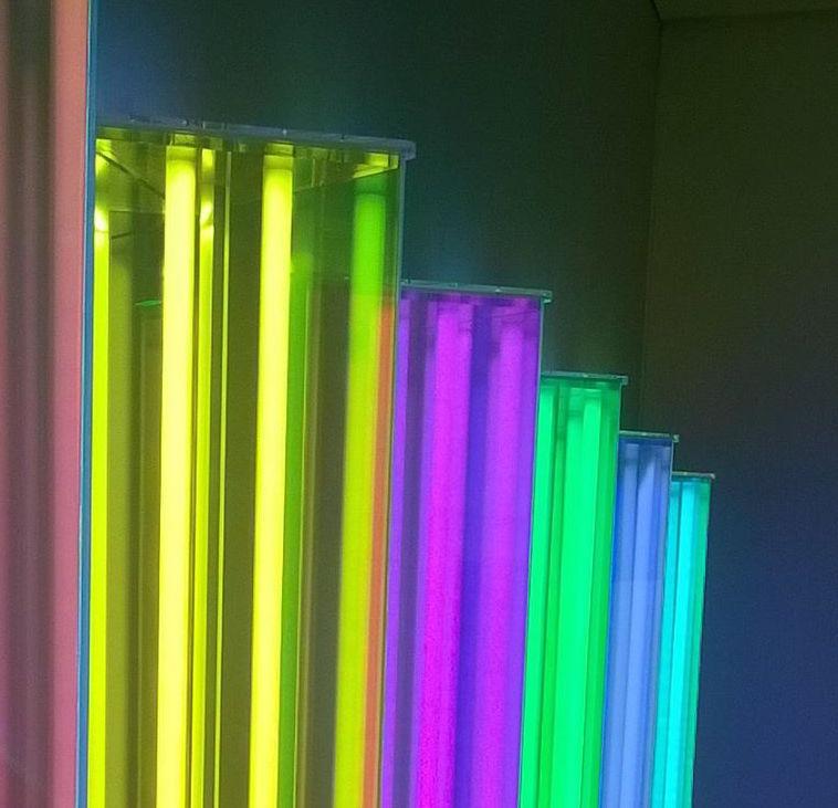 Coloured tubes to portray colour idioms