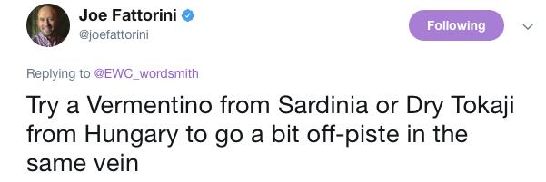 Wine tip tweet
