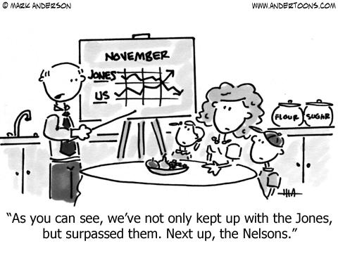 Keeping up with the Jones cartoon