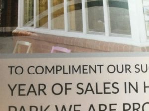 Extract from estate agency leaflet