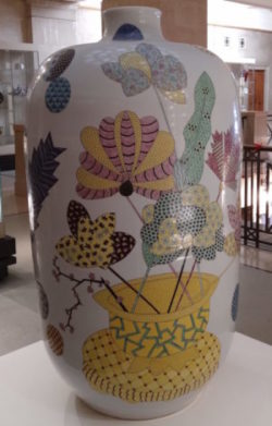 Large decorated pot